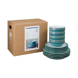 Denby Azure Coast 12 Piece Box Set