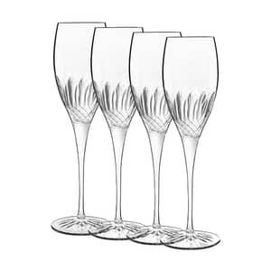 Luigi Bormioli Diamante Champagne/Prosecco Glass 22cl Set Of 4