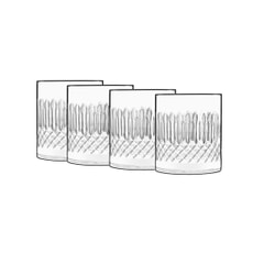 Luigi Bormioli Diamante Double Old Fashioned Glass 38cl Set Of 4