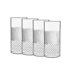 Luigi Bormioli Diamante Hi-Ball Glass 48cl Set Of 4