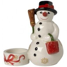Villeroy and Boch Christmas Light Snowman Votive