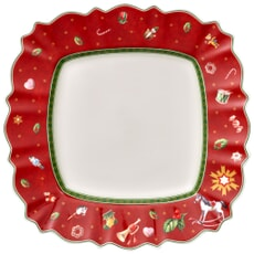 Villeroy and Boch Toys Delight Square flat plate red 28x28cm