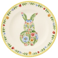 Spring Awakening Bunny Salad Plate 22cm