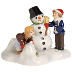 Villeroy and Boch North Pole Express Children Building Snowman