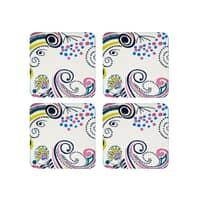 Denby Monsoon Cosmic Cream Coasters Set Of 4