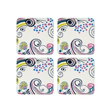 Denby Monsoon Cosmic Cream Coasters Set Of 4