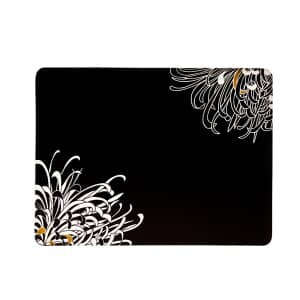 Denby Monsoon Chrysanthemum Charcoal Placemats Set Of 4