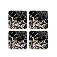 Denby Monsoon Chrysanthemum Charcoal Coasters Set Of 4