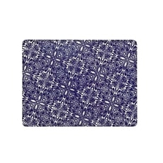 Denby Monsoon Kitchen Collection Cadiz Blue Placemats Set Of 4