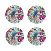 Denby Monsoon Kyoto Blue Round Coasters Set Of 4