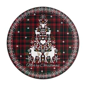 Denby Merry Christmas Tartan Round Placemats Set Of 6