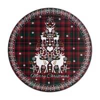 Denby Merry Christmas Tartan Round Placemats Set Of 6