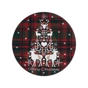 Denby Merry Christmas Tartan Round Coasters Set Of 6