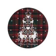 Denby Merry Christmas Tartan Round Coasters Set Of 6