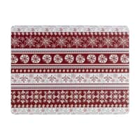 Denby Red Snowflake Placemats Set Of 6