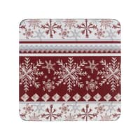 Denby Red Snowflake Coasters Set Of 6