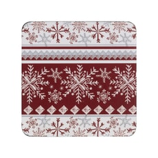 Denby Red Snowflake Coasters Set Of 6