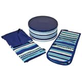 Azure/Imperial Apron And Oven Glove Set