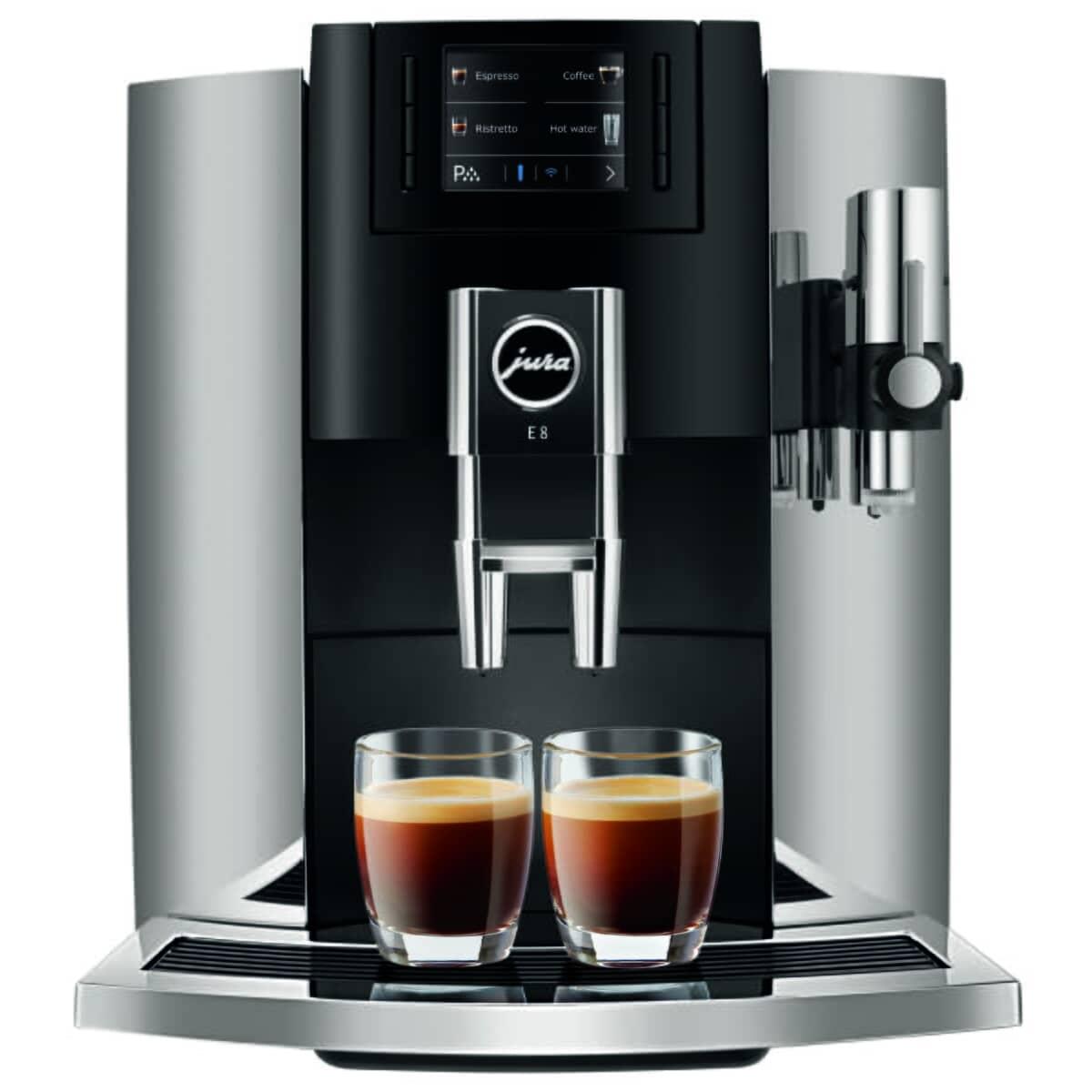Jura E8 Coffee Machine Chrome