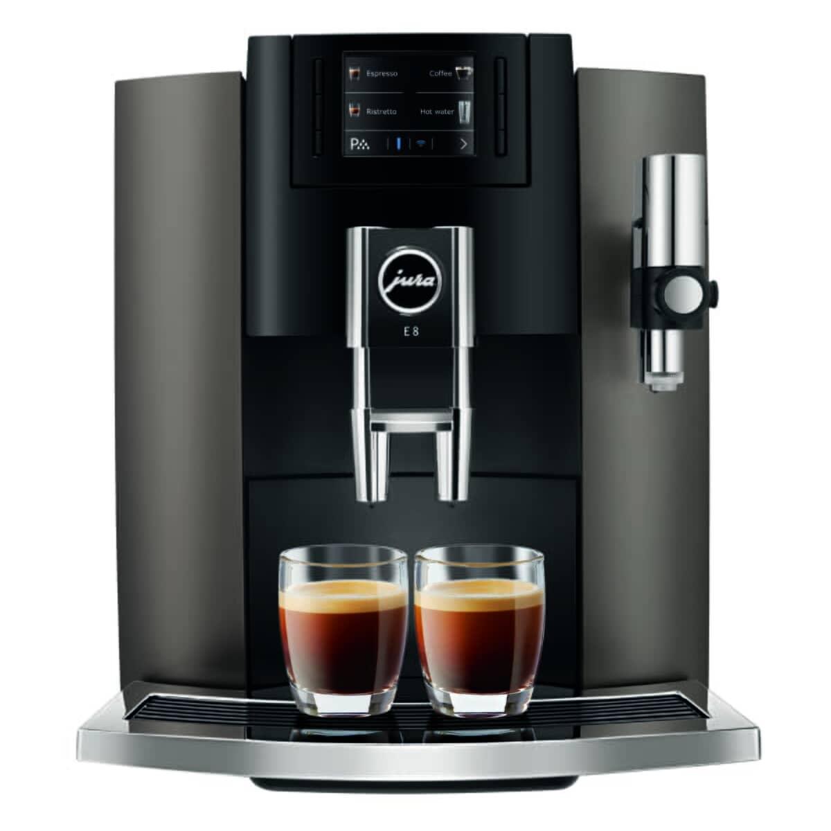 Jura E8 Coffee Machine Dark Inox