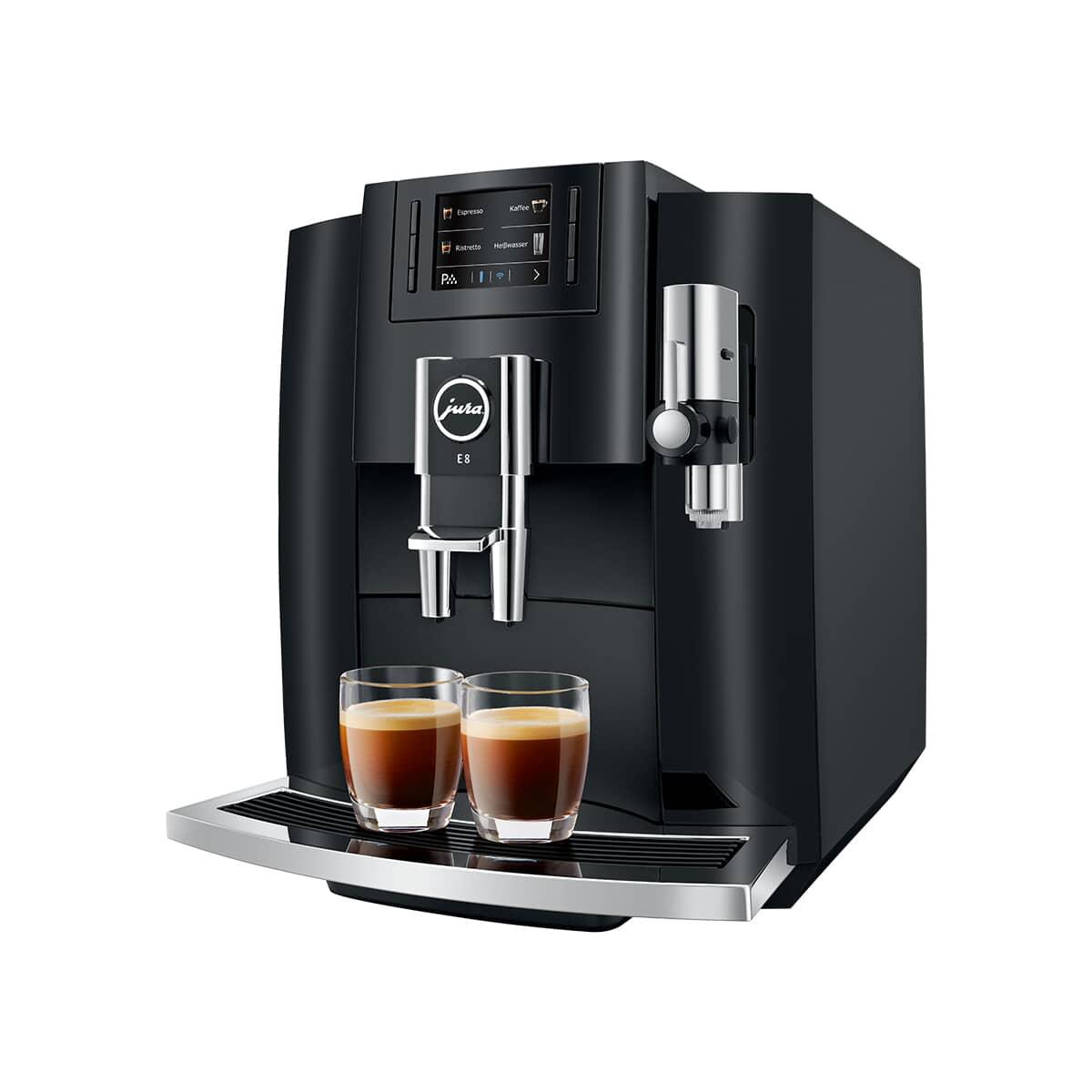Jura E8 Coffee Machine Piano Black