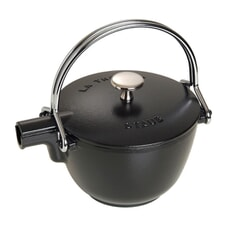 Staub Cast Iron Round Teapot Black