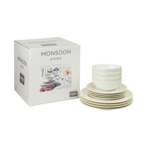 Denby Monsoon Lucille Gold 12 Piece Box Set