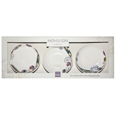 Denby Monsoon Cosmic Set Of 3 Dipping Bowls