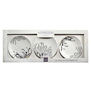 Denby Monsoon Chrysanthemum Set Of 3 Dipping Bowls