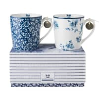 Laura Ashley Blueprint Collectables - Sweet Allysum And China Rose 2 Mugs G