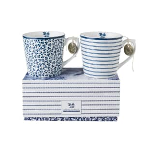 Laura Ashley Blueprint Collectables - Candy Stripe And Floris Mini Mugs 2 I