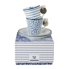 Laura Ashley Blueprint Collectables - Floris And Candy Stripe Espresso Set