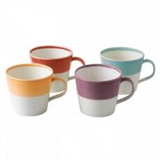Royal Doulton 1815 Set Of 4 Bright Coloured Mugs