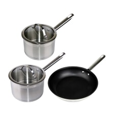 Denby Stainless Steel 3 Piece Pan Set