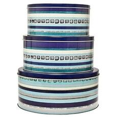 Azure/Imperial - 3 Piece Cake Tin Set
