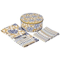 Denby Monsoon Kitchen Collection Cordoba Apron and Tea Towel Gift Set