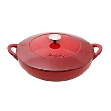 Denby Pomegranate Cast Iron 30cm Shallow Casserole