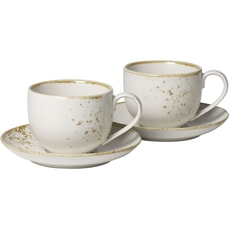 Villeroy and Boch Vivo Stoneware White - Coffee Cup Set
