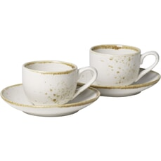 Villeroy and Boch Vivo Stoneware White - Espresso Cup Set