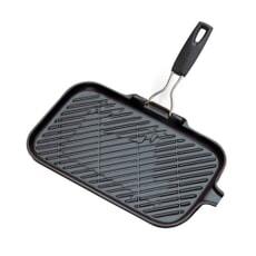 Le Creuset Cast Iron Rectangular Grill Satin Black