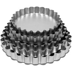Anodised Bakeware Deep Fluted Flan 7in (Loose Base)