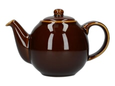 London Pottery Globe� 2 Cup Teapot Rockingham Brown