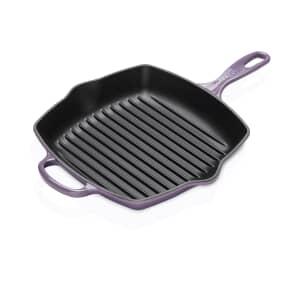 Le Creuset Signature Cast Iron 26cm Square Grillit Ultra Violet