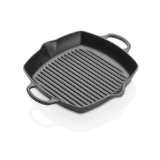 Le Creuset Signature Cast Iron 30cm Deep Square Grill Satin Black