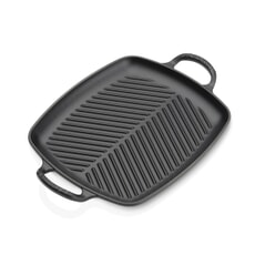 Le Creuset Signature Cast Iron 30cm Rectangular Grill Satin Black