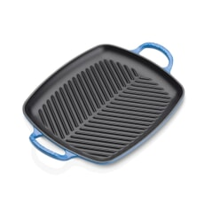 Le Creuset Signature Cast Iron 30cm Rectangular Grill Marseille Blue