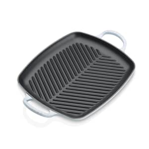 Le Creuset Signature Cast Iron 30cm Rectangular Grill Coastal Blue