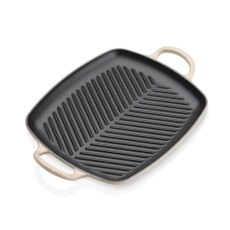 Le Creuset Signature Cast Iron 30cm Rectangular Grill Almond