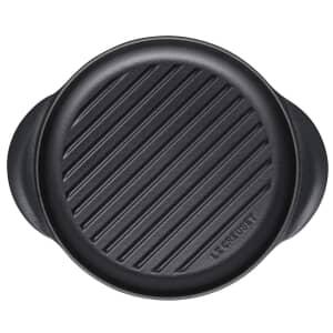 Le Creuset Cast Iron 25cm Round Grill Satin Black