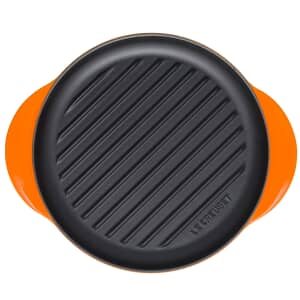 Le Creuset Cast Iron 25cm Round Grill Volcanic